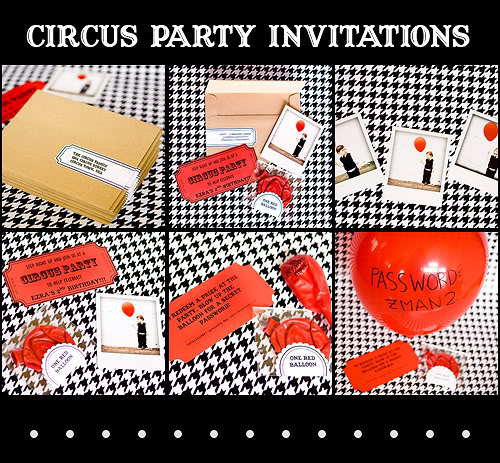 Circus Party Invitations  Armelle Blog