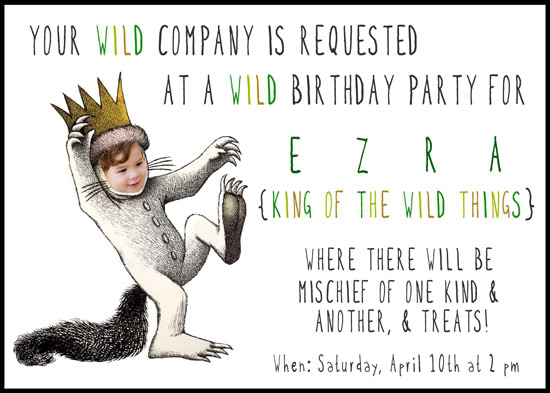 Where the Wild things are party Invitations