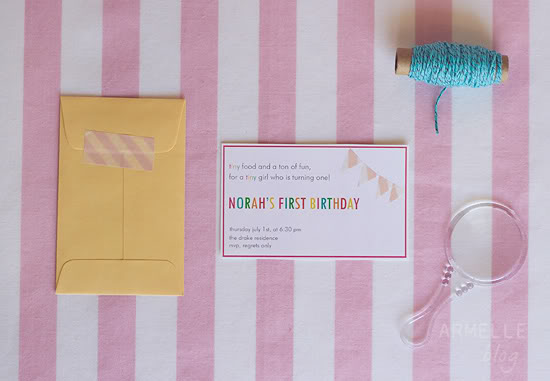 tiny birthday party invitation