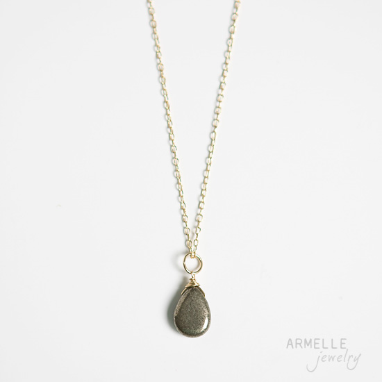 pyrite-teardrop-necklace
