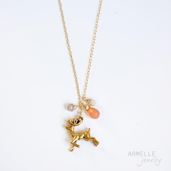 reindeercharmnecklace