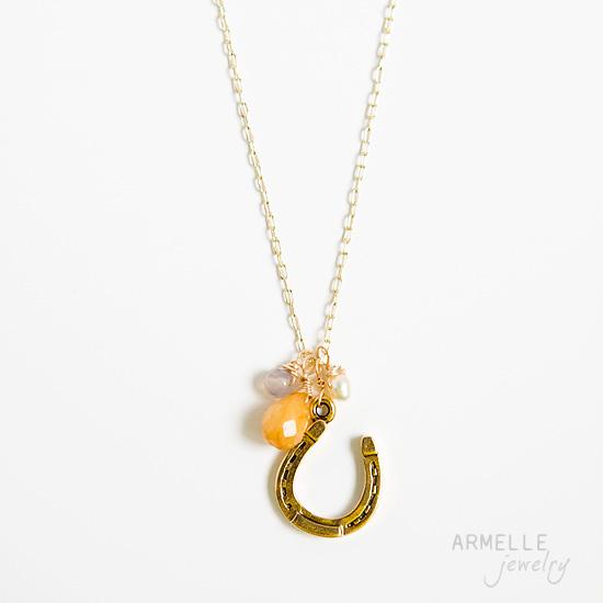 horseshoe-charm-necklace