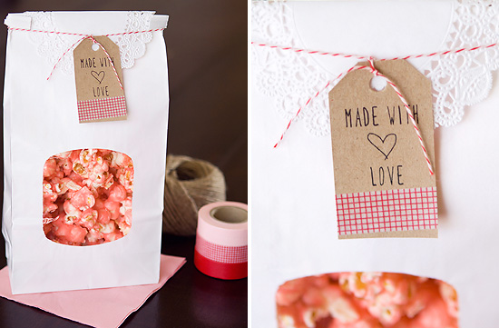 Free Printable Valentine Gift Tag // Made with Love via Armelle Blog