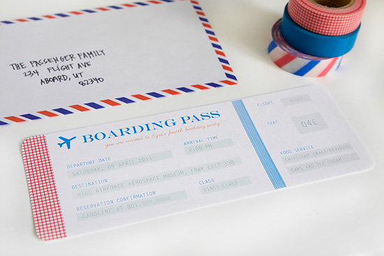 Party airplane party invitations Armelle Blog