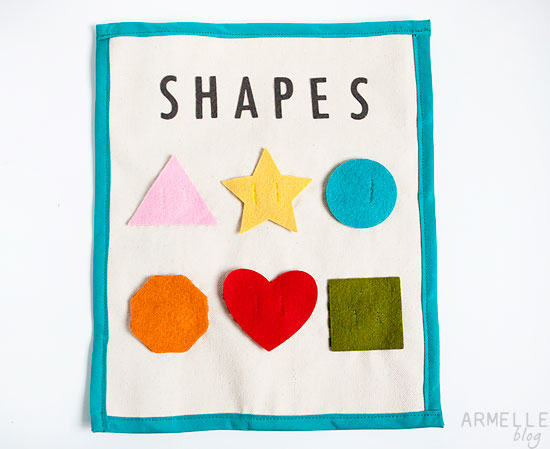 Shapes Quiet Book Page …
