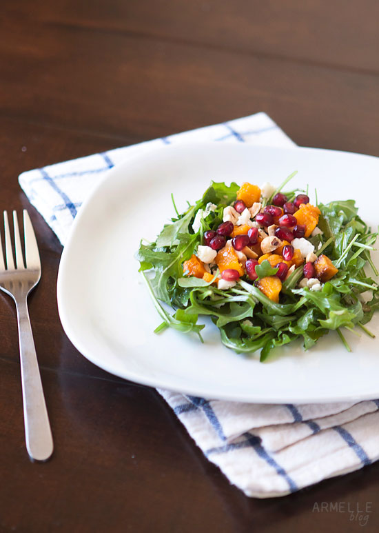 Recipe // roasted butternut squash and pomegranate salad ...