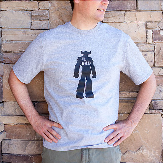 DIY // father's day freezer paper stencil t-shirts | Armelle