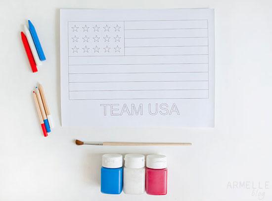 Team USA Free Printable Olympic Art for Kids