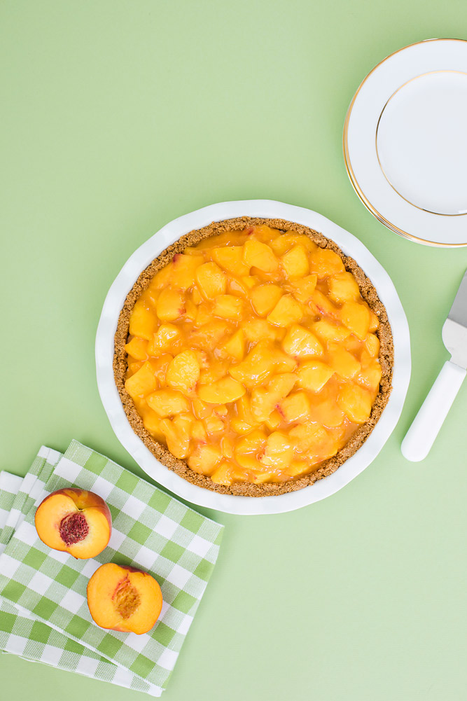 Homemade Fresh Peach Cream Pie