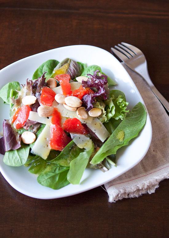 Recipe // manchego, almond salad | Armelle Blog