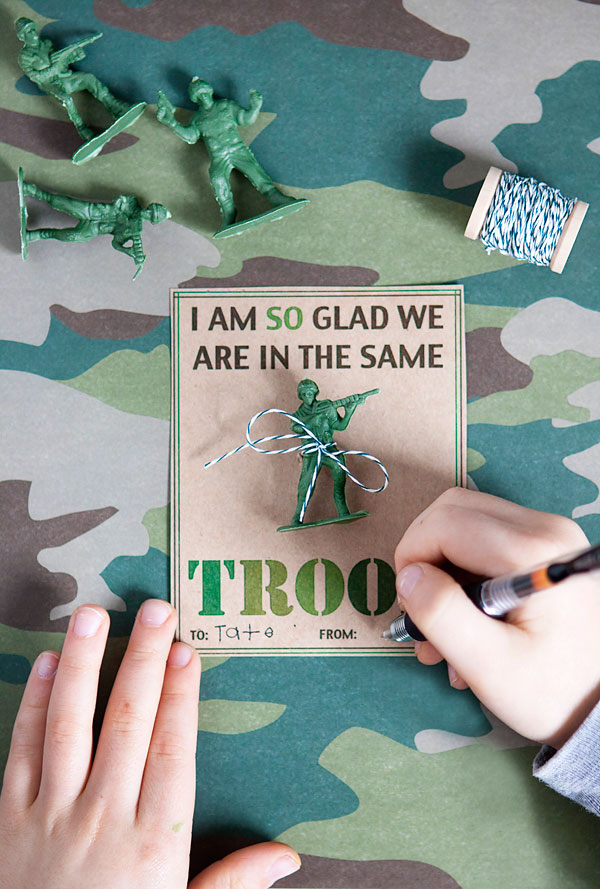 Army Boys Classroom Valentines