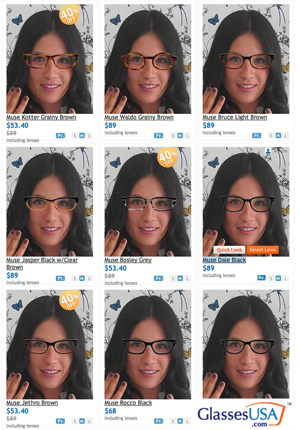"""51450d288f0 I like how their website is set up to allow you to upload a picture of you  so you can """"try on"""" all of their glasses with their new virtual mirror  feature."""