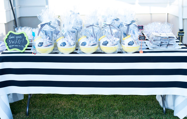 wayfair, party, black and white stripes, white exteriors, blogger party, tai pan trading