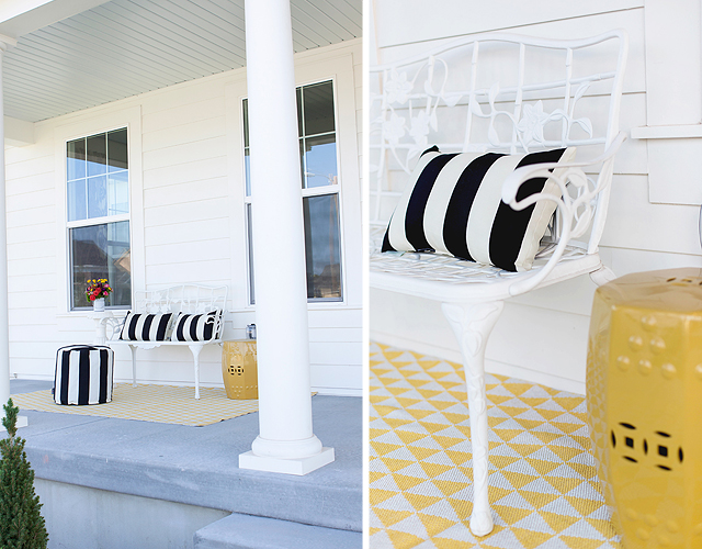 white house, wayfair, party, yellow door, black and white stripes, bing, harmons grocery