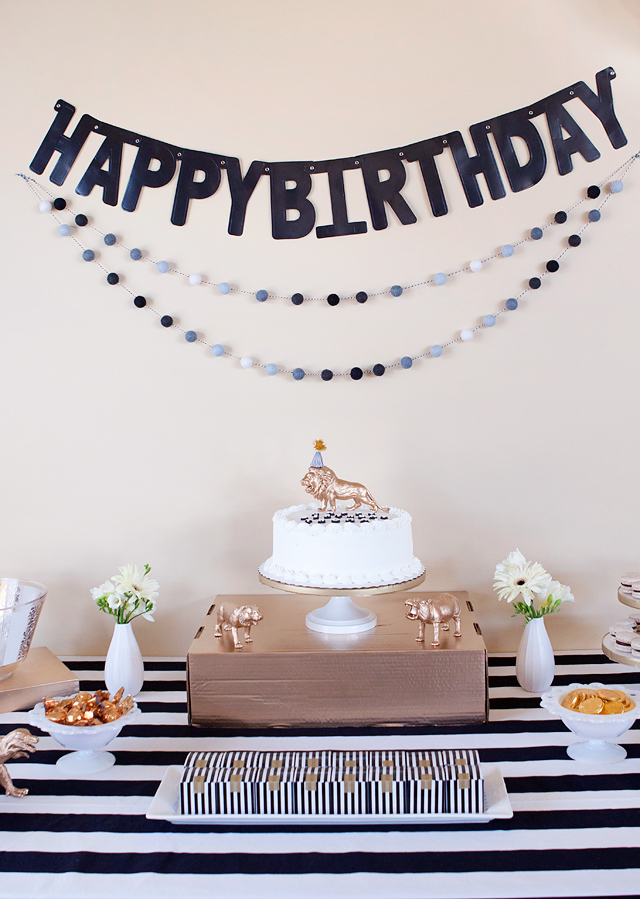 Party Black White Gold Birthday Party Armelle Blog