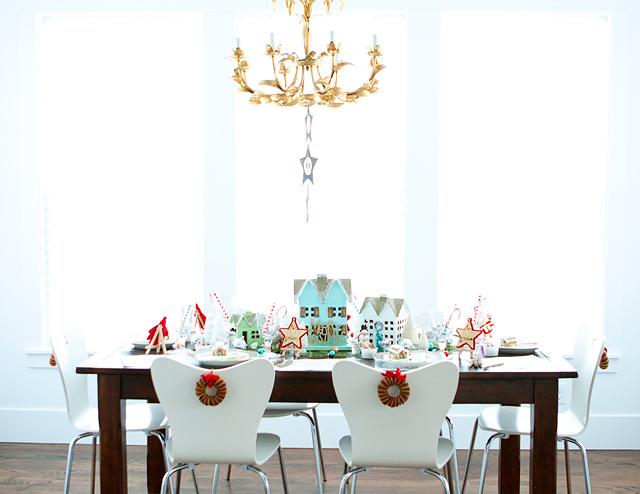 Christmas Table setting Festive place setting