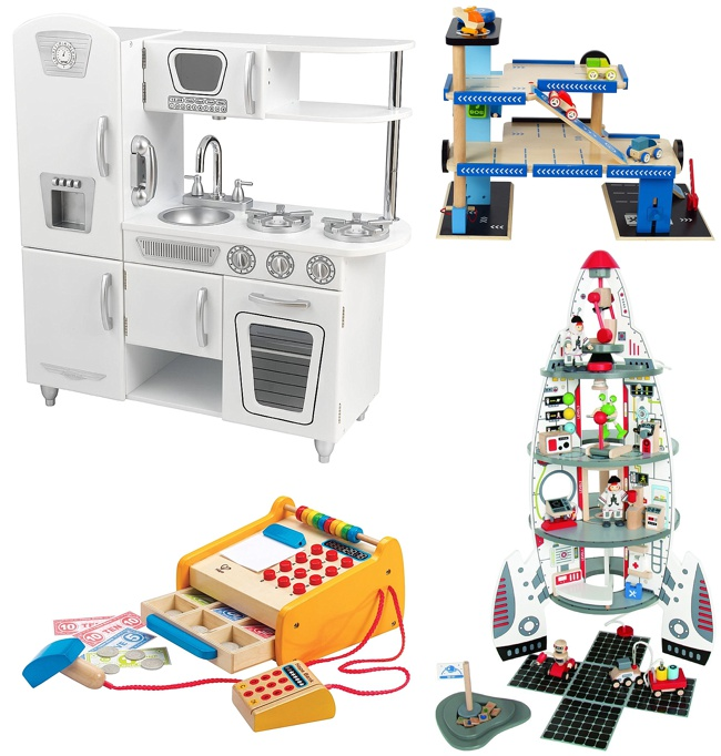 Wooden Toys Rocket Ship Pretend Play Play Kitchen