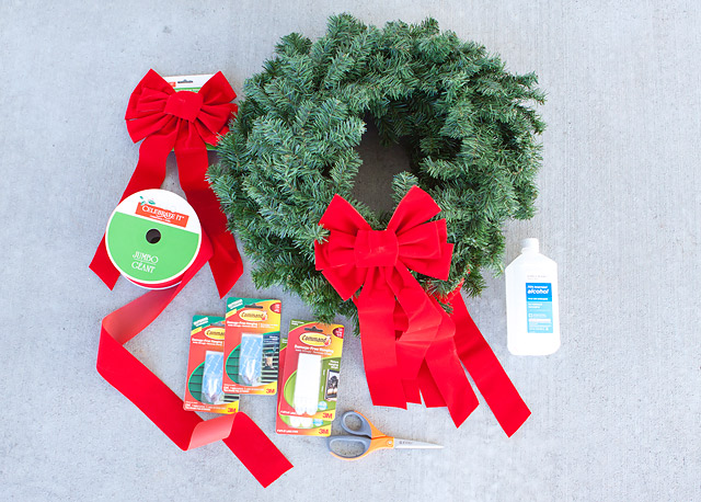 holiday wreath pine wreath red bow