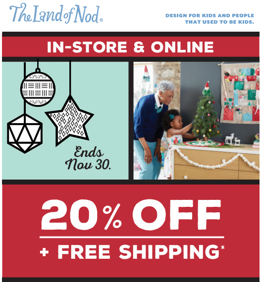 Land of Nod Toys Coupon Code
