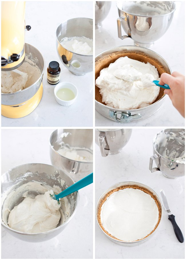 Step by Step No-Bake Cheesecake Recipe via Armelle Blog