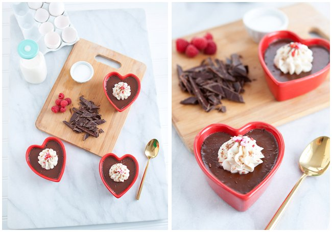 Lindt Chocolates Pot de Crème Valentine's Day Dessert Recipe via Armelle Blog
