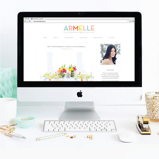 Armelle Blog Redesign