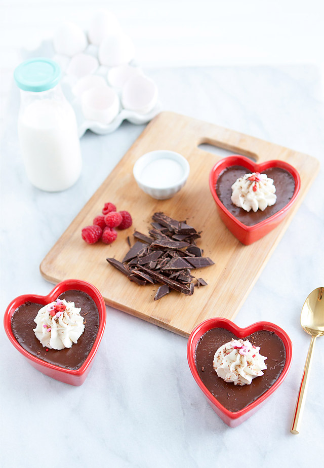 Lindt Chocolate Pot de Crème Valentine's Day Dessert Recipe via Armelle Blog