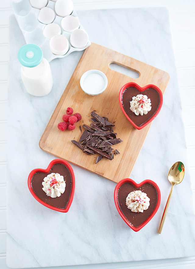 Lindt Chocolate Pot de Crème Valentine's Day Dessert Recipe via Armelle Blog