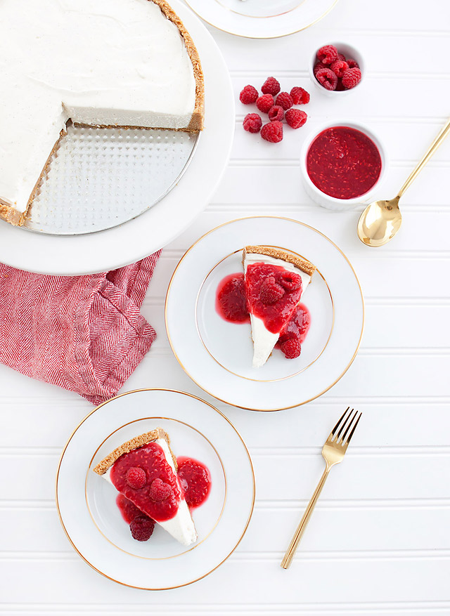 No-Bake Raspberry Cheesecake Recipe Dessert via Armelle Blog