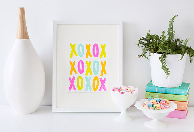 DIY Home Decor Valentine Art