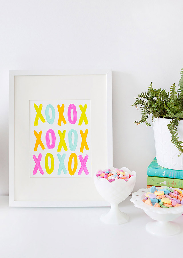 DIY // Five Minute XOXO Valentine's Day Art for the Home
