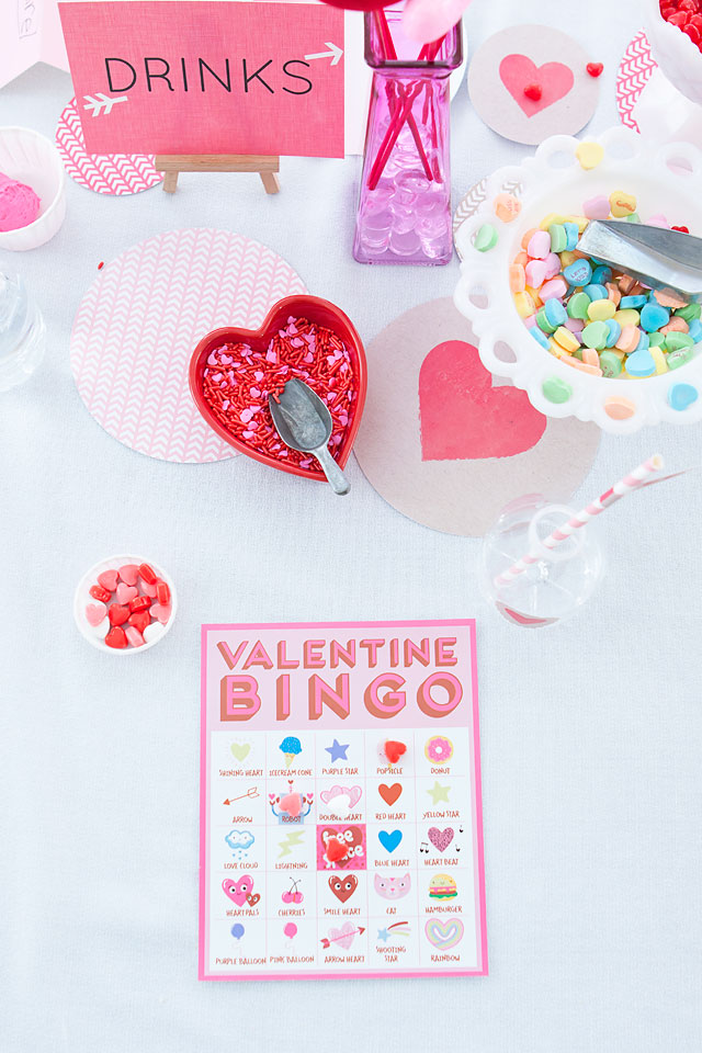 Valentine's Day Bingo Game for Kids via Armelle Blog