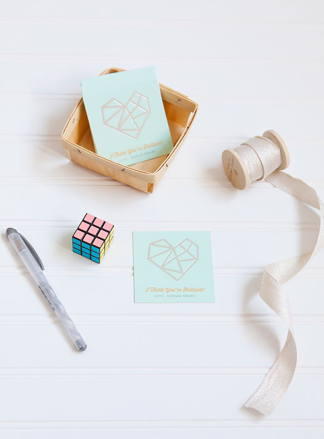 Rubik's Cube Classroom Valentine's Day Cards