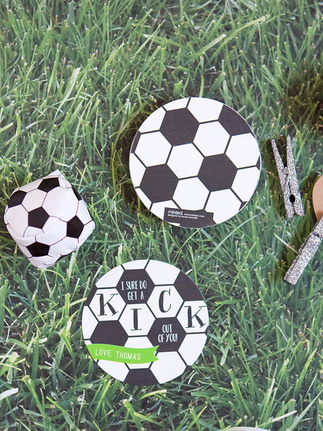Soccer Ball Valentine's Day Cards