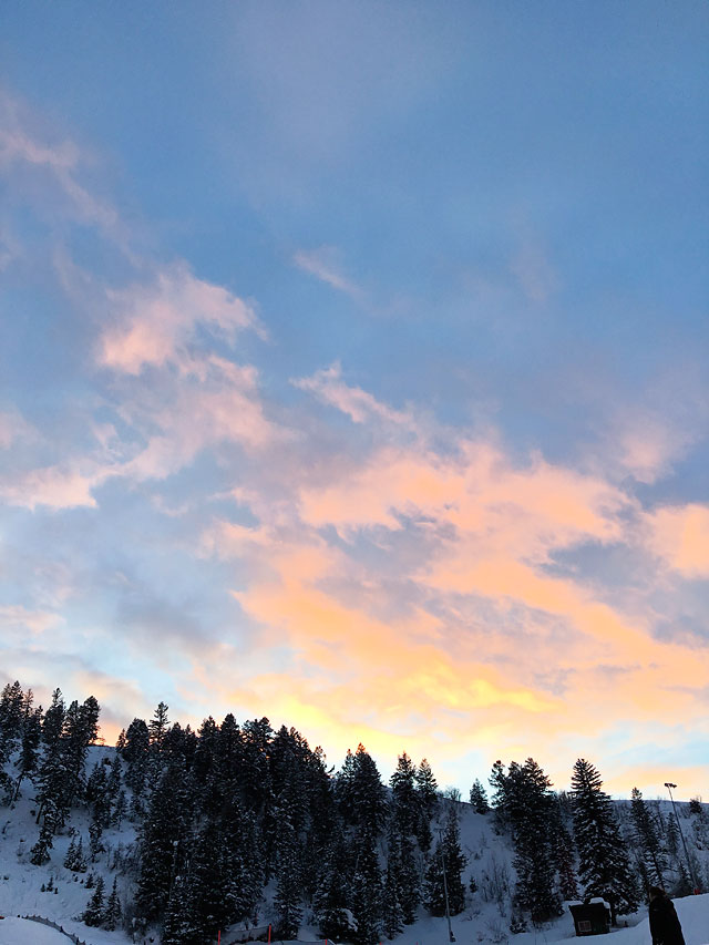 Sunset in Steamboat Springs