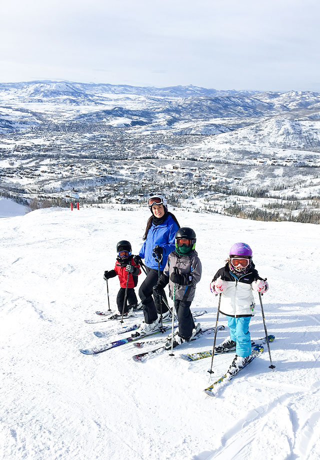 Family Friendly Ski Resort Destinations // Winter Vacations // Steamboat Springs via Armelle Blog