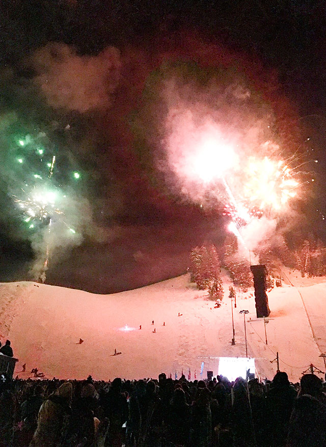 Steamboat Springs Winter Carnival Fireworks on Howelsen Hill