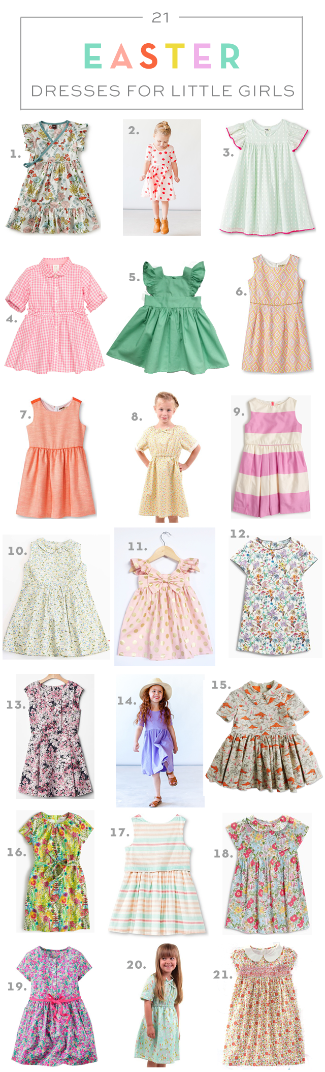 21 Easter Dresses for Little Girls via armelleblog.com