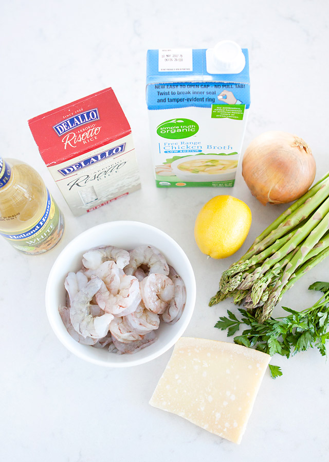 Ingredients for Lemon Asparagus Risotto