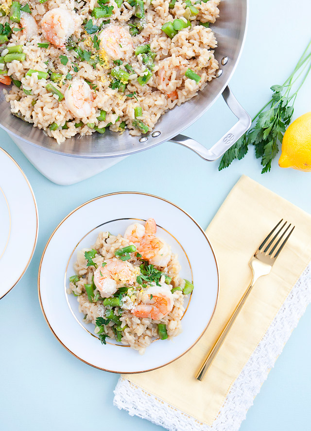 ... risotto shrimp risotto lemony risotto with asparagus and shrimp bay