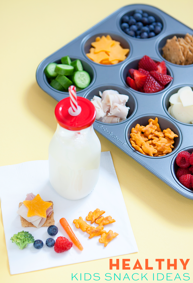 Healthy Kids Snacks served in a Muffin Tin