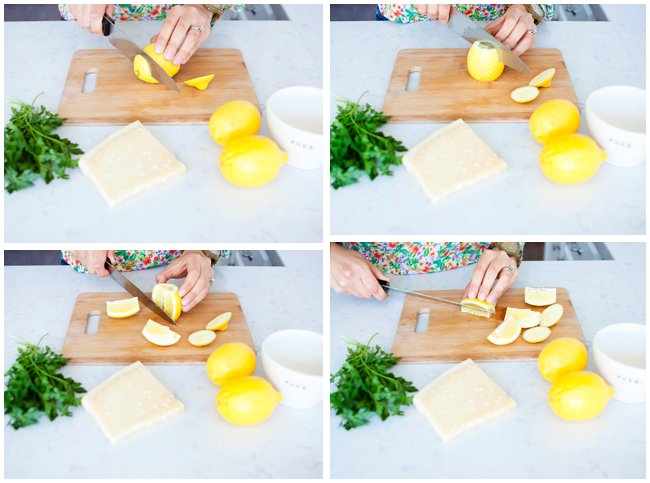 Step by step how to de-seed and juice a lemon