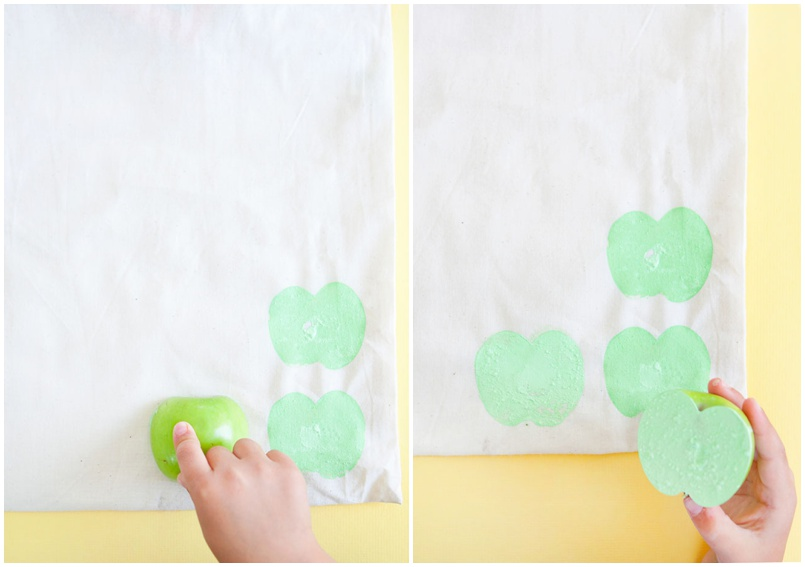 DIY Paint Stamps with Apples
