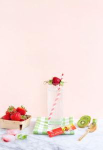 Strawberry Kiwi Probiotic Fiber Healthy Drink Mix