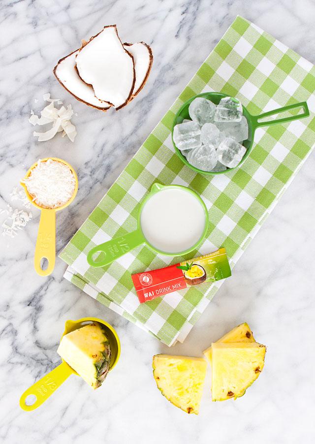 Piña Colada Smoothie Recipe Ingredients
