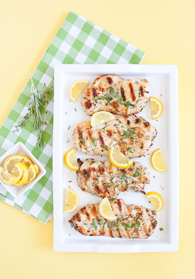 Easy Grilled Chicken with Lemon and Herbs Recipe