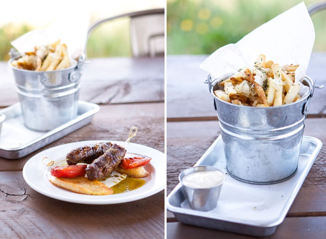 Wagya Beef Skewers and Truffle Fries from Campfire Grill Restaurant Bear Lake