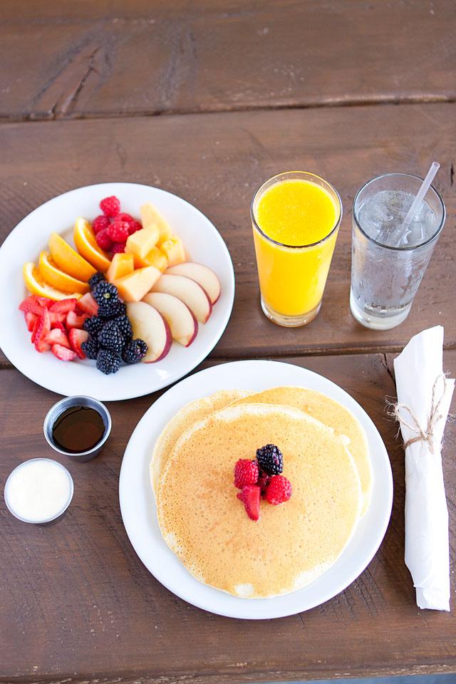 Mixed Berry Pancakes at Campfire Grill Conestoga Ranch Bear Lake