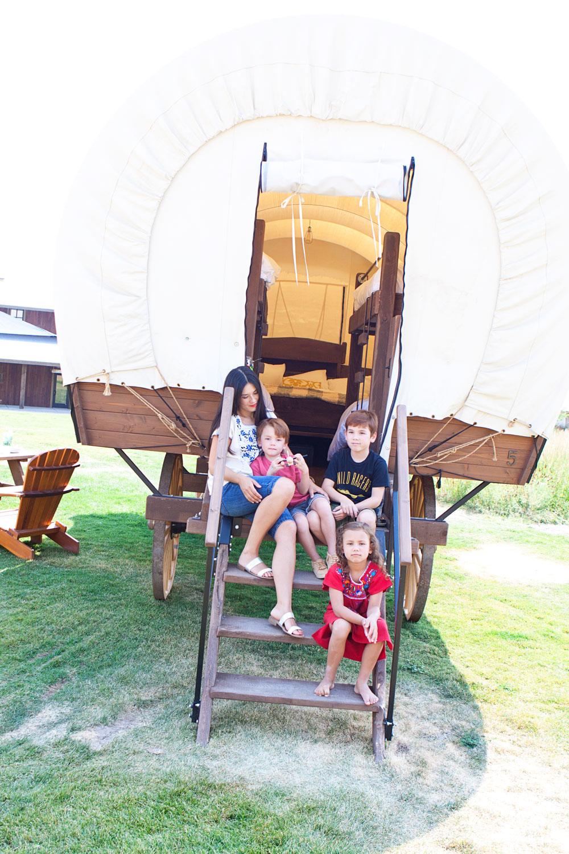 Covered Wagons at Conestoga Ranch Bear Lake