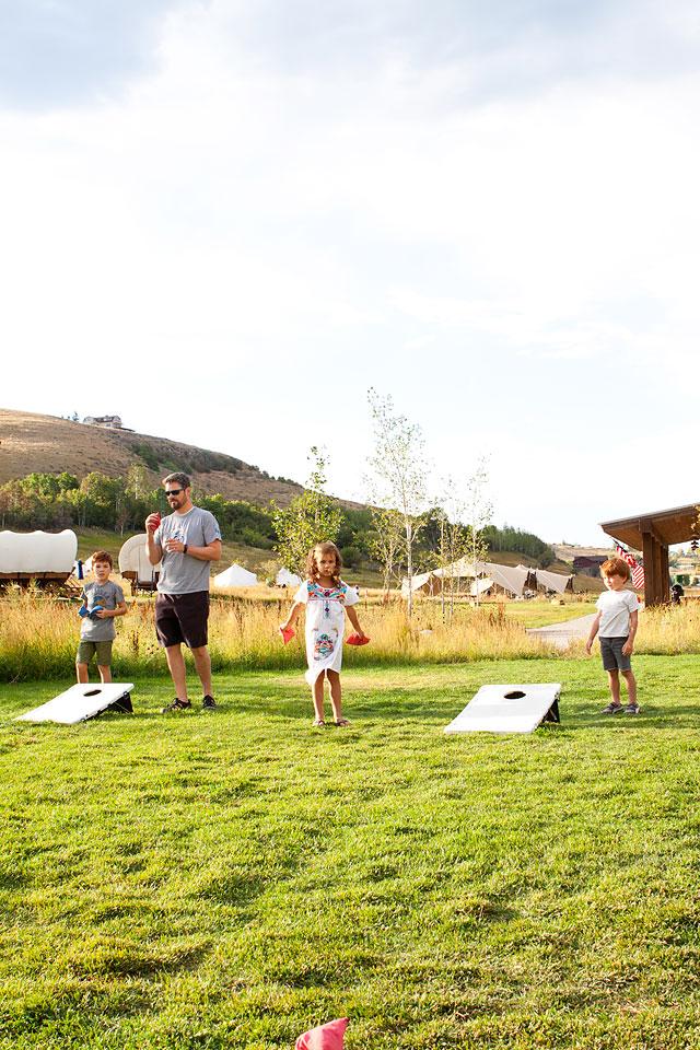 Corn Hole Games at Conestoga Ranch